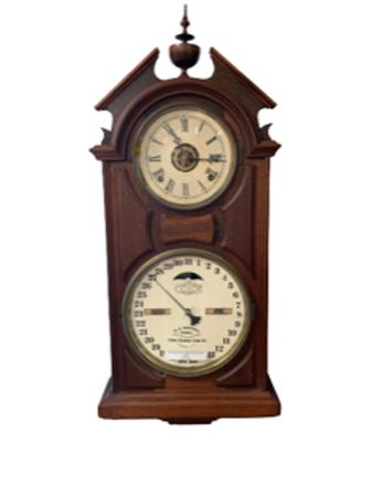 Walnut Ithaca calendar clock