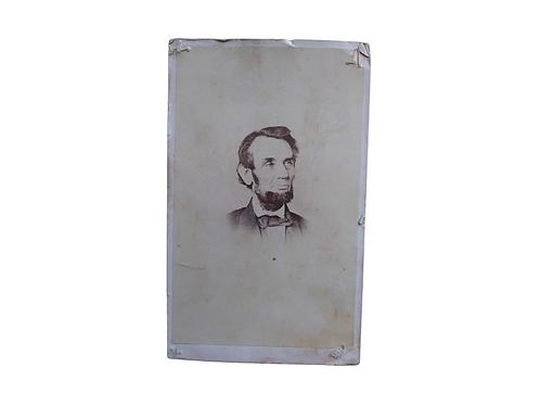 Original cdv photograph of Abraham Lincoln