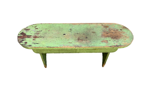 Apple green painted bench