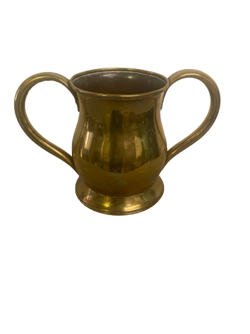 Seamed brass two handle container