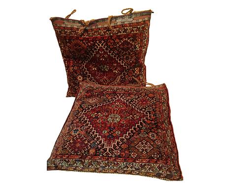 Pair Qashqai (South Persia). Piled. Bags