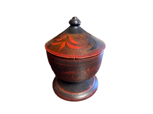 Painted clovered treen ware 19th. century