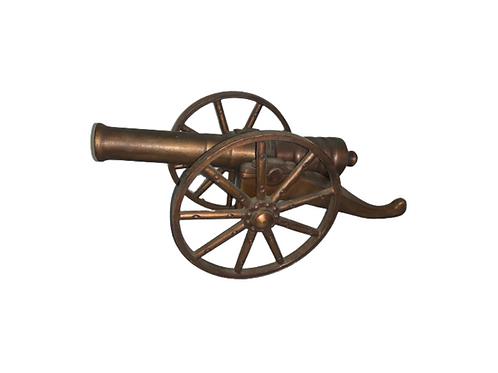 Small bronze starter cannon