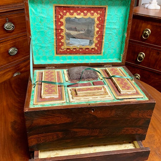 Pennsylvania paint decorated sewing by 1840s the 1850s both 8
