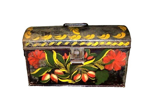 TOLEWARE PAINTED DOCUMENT BOX