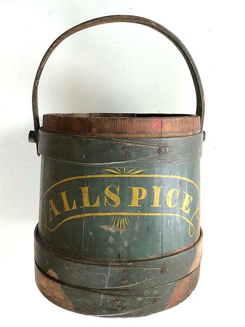 18th Century 'ALLSPICE' Firkin