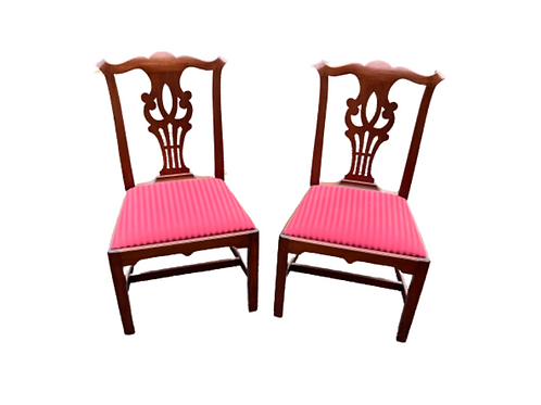Pair of Southern Chippendale Chairs