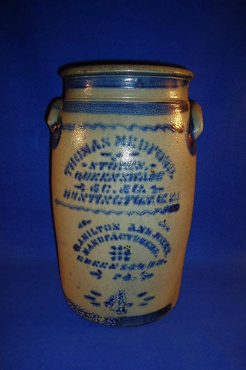 Stoneware Jar with Huntington, WV Advertising by Hamilton & Jones, #4749