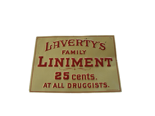 Laverty's Liniment Tin Sign