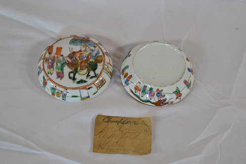 Fine Early Chinese Decorated Covered Dish