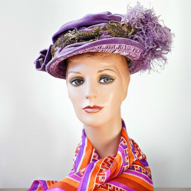 Lavendar Velvet Hat.jpg