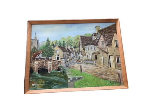 Oil painting-Castle Combe