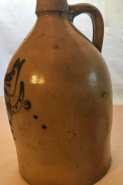 Bird Decorated Stoneware Jug
