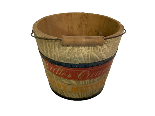 Painted butter & creme pail