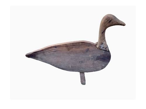 Wood goose decoy flat body