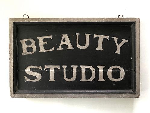 Vintage 'Beauty Studio' Sign