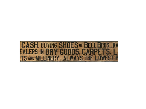 Hand stenciled Shop Sign