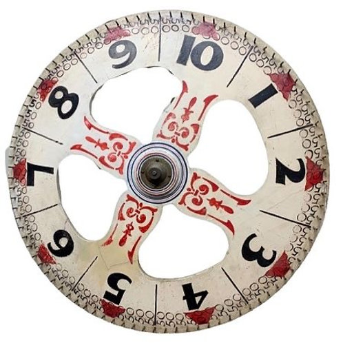 Paint decorated game wheel