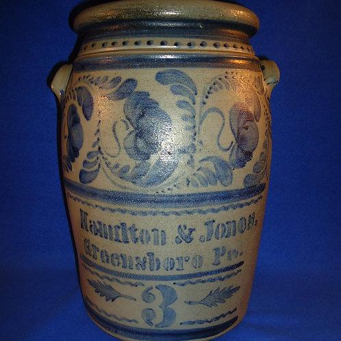 Hamilton & Jones,  Greensboro, Pennsylvania 3g Jar with Freehand,  #4742