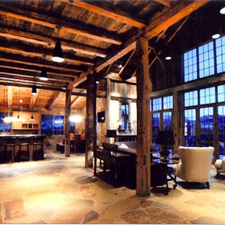 Timber rame and barn wood lodge