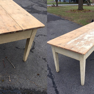 Country painted farm table 8'long both #9