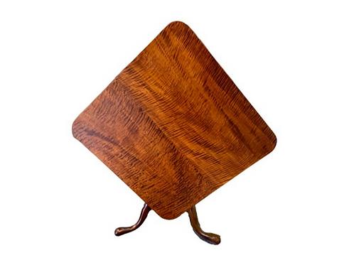 Cherry & tiger maple Queen Anne tea table