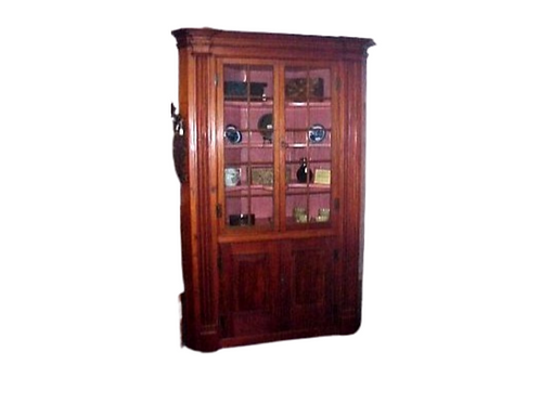 FEDERAL ARCHITECTURAL PINE CORNER CUPBOARD