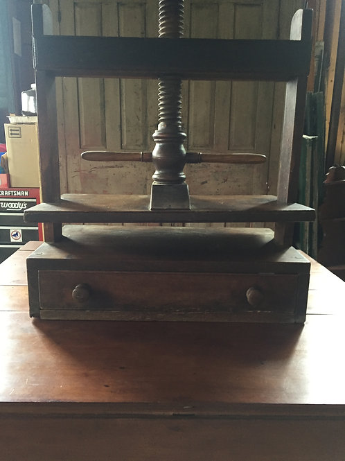 Late 18th century-early 19th century book press