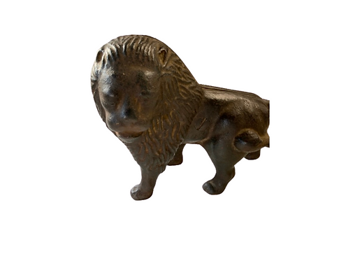 Cast iron lion door stop