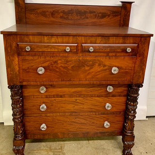 Mahogany carved empire chest with claw feet both #3