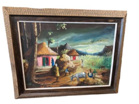 HaitianImpressionistoil painting