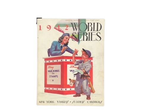 1942 World Series Program