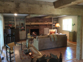 Completed barn wood beam and barnwood matel project