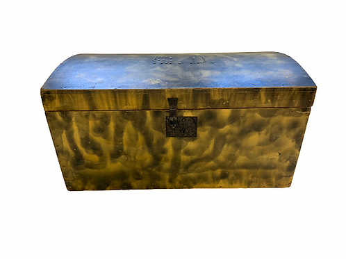 Paint decorated New England dome top box
