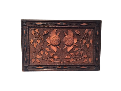 Relief Carved Panel of Flowers