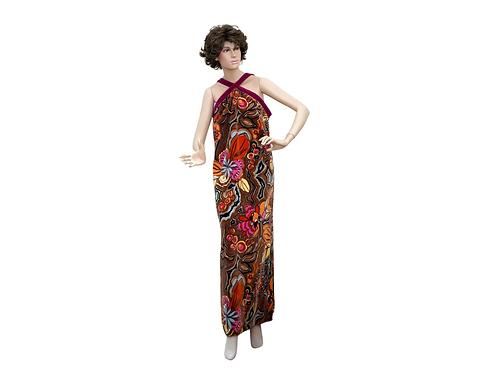 Velour Evening Dress