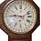 Thumbnail: Rosewood Waterbury short drop schoolhouse calendar clock