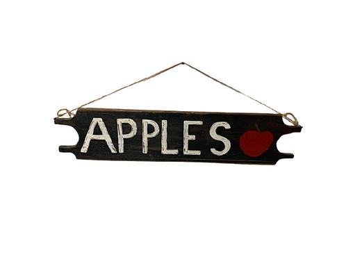 Folk art two sided apple sign