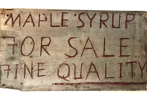 Maple Syrup Sign
