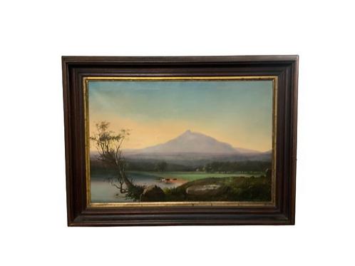 Landscape oil painting on canvas of Mount Chocorua