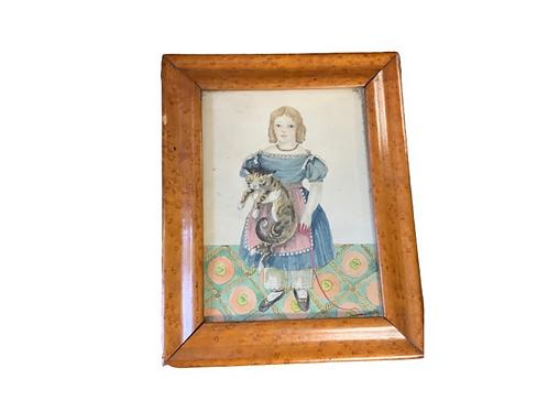 Folk Art watercolor and gouache