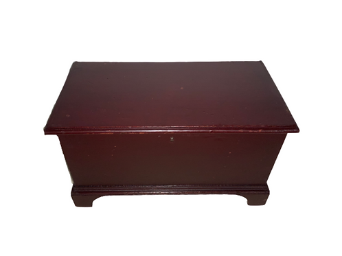 Pennsylvania miniature blanket box in red paint