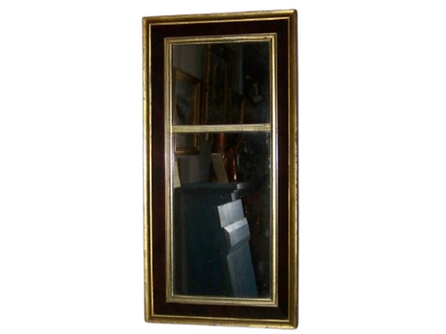 EMPIRE MAHOGANY AND GOLD LEAF MIRROR