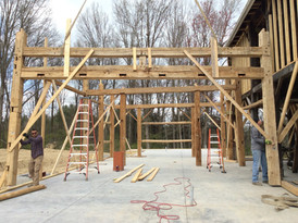 Timber frame house addition
