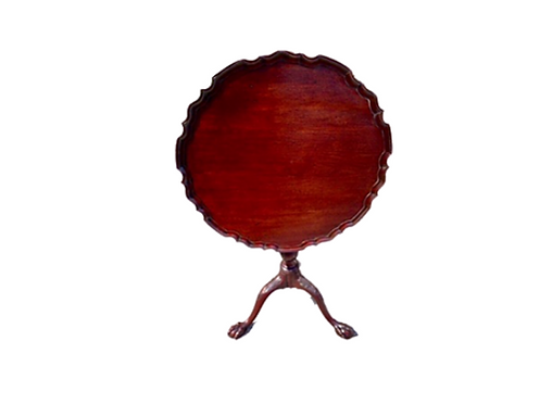 SCOTTISH MAHOGANY PIE CRUST TILL - TOP TEA TABLE