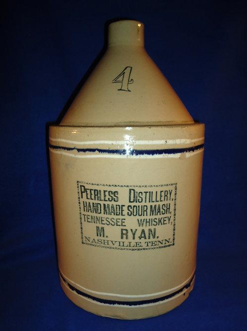 Peerless Distillery, Tennessee Whiskey, Nashville Stoneware 4 Gallon Jug