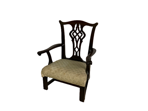 Mahogany child's Chippendale armchair