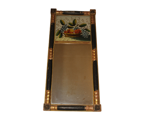 Reverse Painted Glass Tablet Mirror
