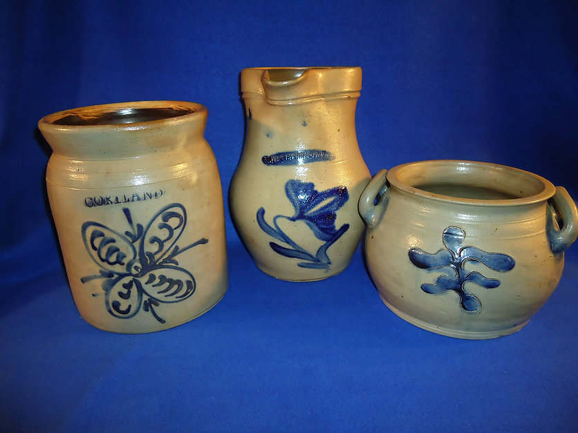 Collection of new York antique stoneware
