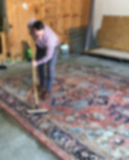Shaia Rug cleaning process